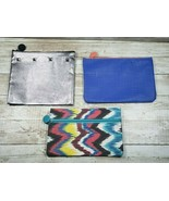 Lot of 3 Unused Empty Ipsy Cosmetic Makeup Bags - $7.99