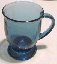 NEW (1) Large Anchor Hocking Large Blue Glass Coffee Mug - $13.99