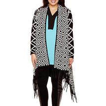 Bisou Bisou Fringe Open Cardigan Sweater Plus Size 3X New Msrp $72.00 - $19.99