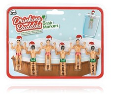 NPW Drinking Buddies Cocktail/Wine Drink Markers, 6-Count, Holiday - $10.26
