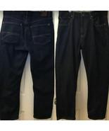 Tommy Hilfiger Men's Classic Fit Dark Wash Blue Jeans Straight Leg 36 x 30 - $29.98