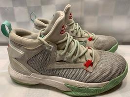 ADIDAS Damian Lillard 2 Basketball Sneaker Shoe Size 6.5 Grey Green Whit... - $15.83