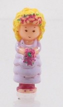 1989 Polly Pocket Doll Bridesmaid Polly - Polly Bluebird Toys - $6.50