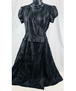 Women's Adrianna Papell Petite Black Sash Wrap Dress Size 6P Beautiful L... - $42.53