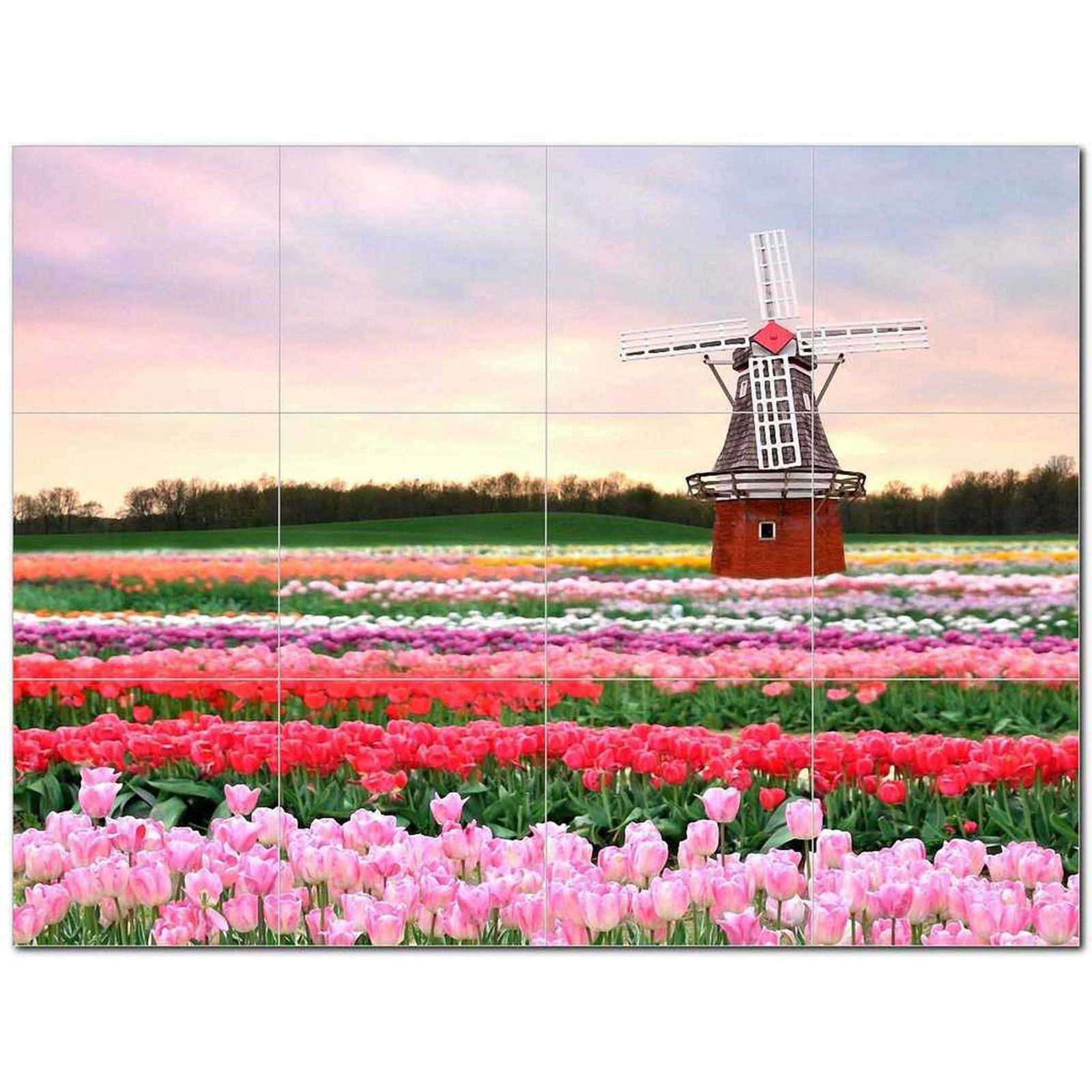Primary image for Windmill Picture Ceramic Tile Mural Kitchen Backsplash Bathroom Shower BAZ406346