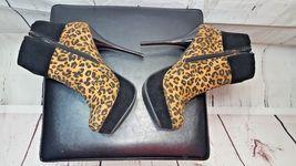 Women Taydra Platform Stiletto JustFab Ankle 5 8 Booties Heels Print Leopard TwS1q78