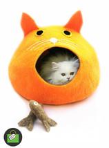 Orange Ball Cat Cave - Cat Cave Bed,Pet Bed,Cat House,Warm Cat Bed,Cat B... - £53.09 GBP
