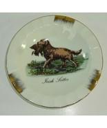 Vintage Duck Hunting Irish Setter Dog w/ Water Fowl Ceramic Ashtray UCGC... - $14.14
