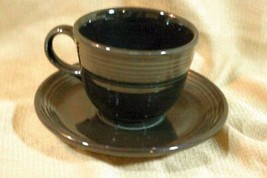 Homer Laughlin Fiesta Black Saucer Only No Cup - $1.25