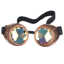 Careonline Vintage STEAMPUNK GOGGLES&Glasses Bling Lens Rustic Goth COSPLAY - $15.58