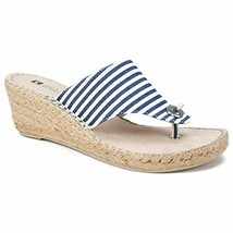 White Mountain Shoes Beachball Women's Sandal, Navy/White/Stripe/FAB, 6 M - $29.39