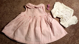 Girl's Size 3-6 M Months 3 Piece Pink Floral Koala Kids Dress, Footed Ti... - $11.00