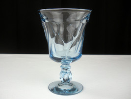 "Fostoria Jamestown Blue Goblet, Vintage 8 oz 5 7/8"" Water Wine Glass, Li... - $11.11"
