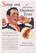 1933 Coca Cola afternoon drowsy time Print Ad  - $9.99