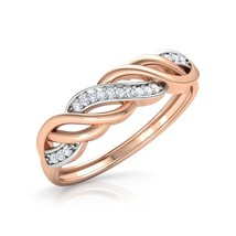 14K Rose Gold Over Sterling Silver 1.25Ct Round Cut Diamond Bridal Weddi... - $83.99