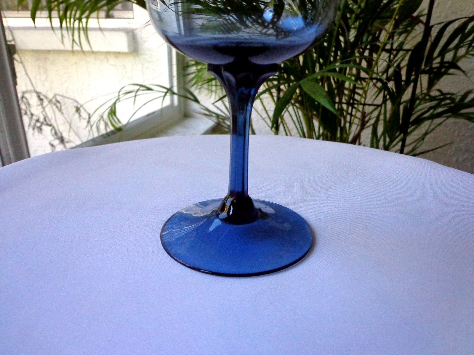 Lenox Blue Mist Crystal Water Goblet c 1974 - 1985