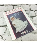 Fibre Craft Christening Gown Doll Clothes Crochet Pattern Book Vintage 1992 - $9.89