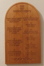 Ten Commandments Plaque/Spiritual/Religious/Home decor/Wall hanging - $19.99