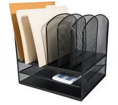 Adir Office Black Wire Mesh 2-Horizontal/6-Upright Section Organizer - $31.99