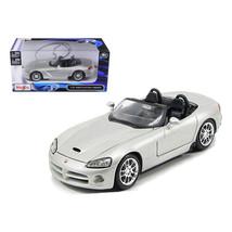 2003 Dodge Viper SRT-10 Silver 1/24 Diecast Model Car by Maisto 31232s - $29.89