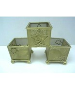 3 Holder Gold with Stars Tea Light Candle Holder Sleeve - $10.36