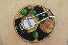 Vintage Japan Hand mirror folding purse mirrors Silk flowers round Bakel... - $50.00