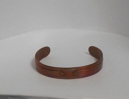 Vintage Signed Avon Copper Riveted Cuff Bracelet - $14.84