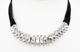 New Irina Marquis Velvet Rhinestone Choker Necklace from Bloomingdale's ... - $23.76