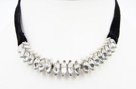 New Irina Marquis Velvet Rhinestone Choker Neck... - $23.76