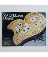 29 Cribbage Board 1029 Pressman 1983 Solid Wood 3 Track W/ Pegs Sealed 3... - $19.99