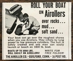 1967 Airoller Guilford CT Print Ad Airollers Roll Your Boat Over Rocks M... - $7.49