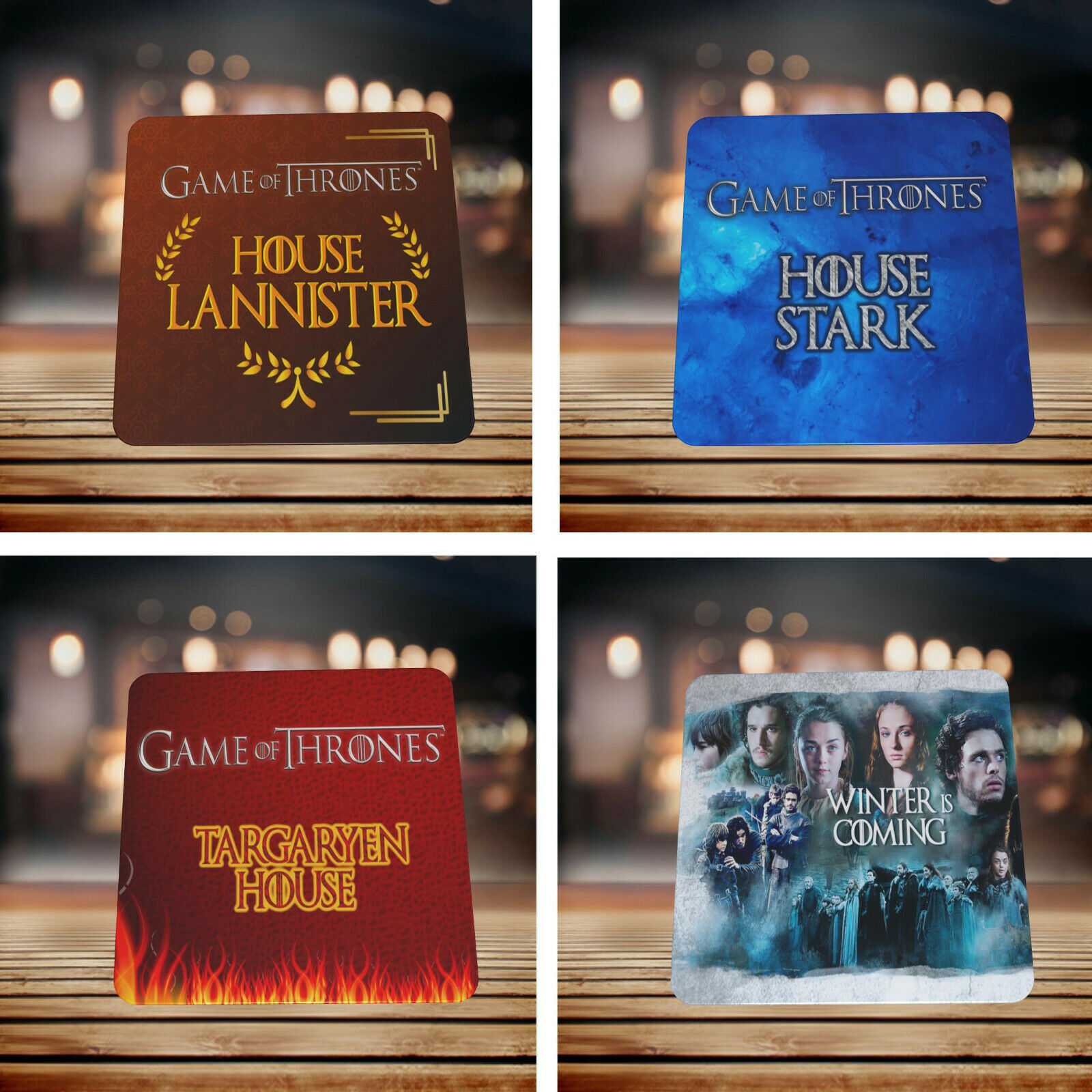 GAME OF THRONES DRINK COASTERS - VARIOUS DESIGNS - PERFECT GIFT