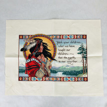 Completed Dimensions The Earth Is Our Mother Cross Stitch Kit James Hims... - $68.28