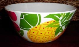 """New Lot of 2 Bowls 6"""" Diam Fruit Design 2"""" Deep lovely Hard Plastic - $7.49"""