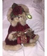 Bearington Collection Virginia #1072 Retired Christmas Bear w/Gift MWMT no box - $9.50