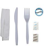 Daxwell B10004141 Medium Heavy Weight Polypropylene Cutlery Sets (Case o... - $32.49