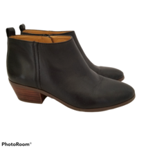 J Crew Womens 6 Sawyer Ankle Boots Black Leather Zip Bootie J7005 - $17.99