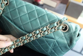 100% Authentic Chanel Limited Edition Turquoise Jewel CC Flap Bag GHW image 8