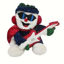 Dan Dee Musical Animated Snowman Sunglasses Guitar Christmas Tabletop Dé... - $29.69