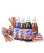 Kool-Aid Premium Snow Cone Syrup Kit with 20 Strip cups & straws and 16-... - $40.66