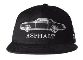 Asphalt Yacht Club AYC All Black 5 Panel Snapback Classic Car Baseball Hat NWT
