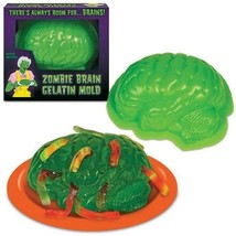 Zombie Brain Mold Halloween Gelatin Jello Walking Dead Party Edible Dessert - ₨487.38 INR