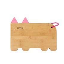 Bamboo Cheese Board, Cat Small Kitchen Cheeseboards Cutting Bamboo Board - ₨1,637.79 INR