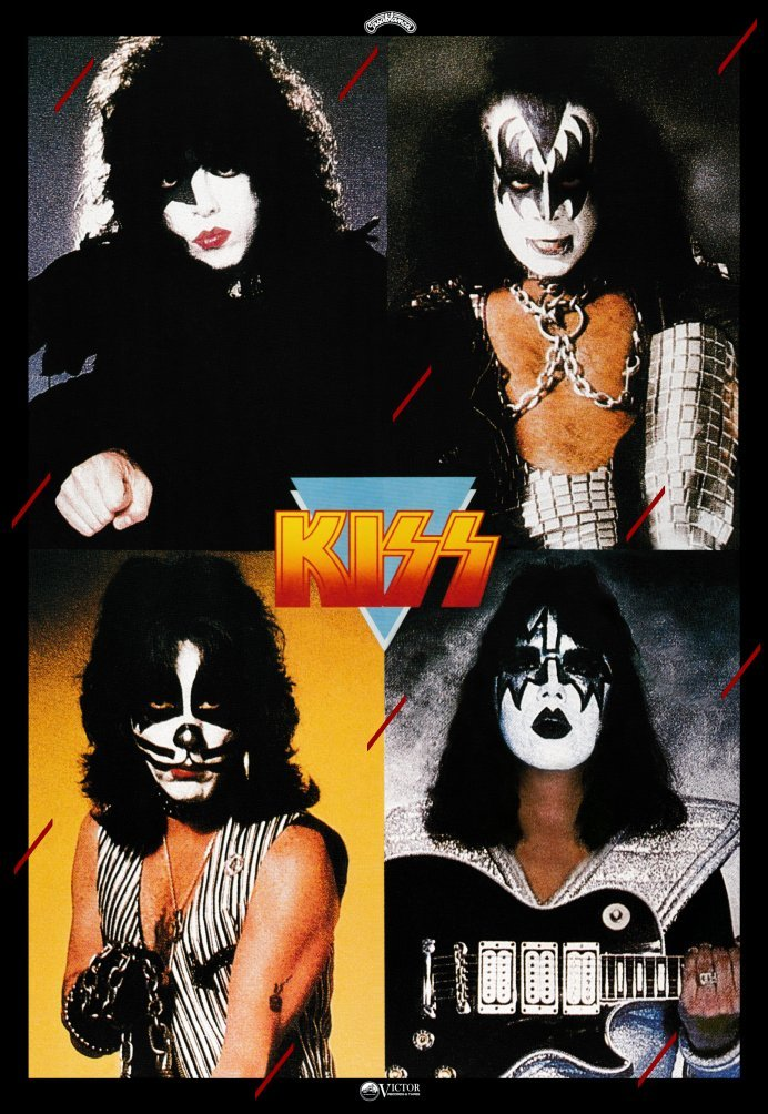 Primary image for KISS Band Custom 18 x 26 Japan Dynasty Promo Poster - Original Style w Red Lines