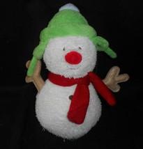 "9"" Carter's Baby Merry Merry Christmas Snowman Stuffed Animal Plush Toy # 49914 - $27.12"