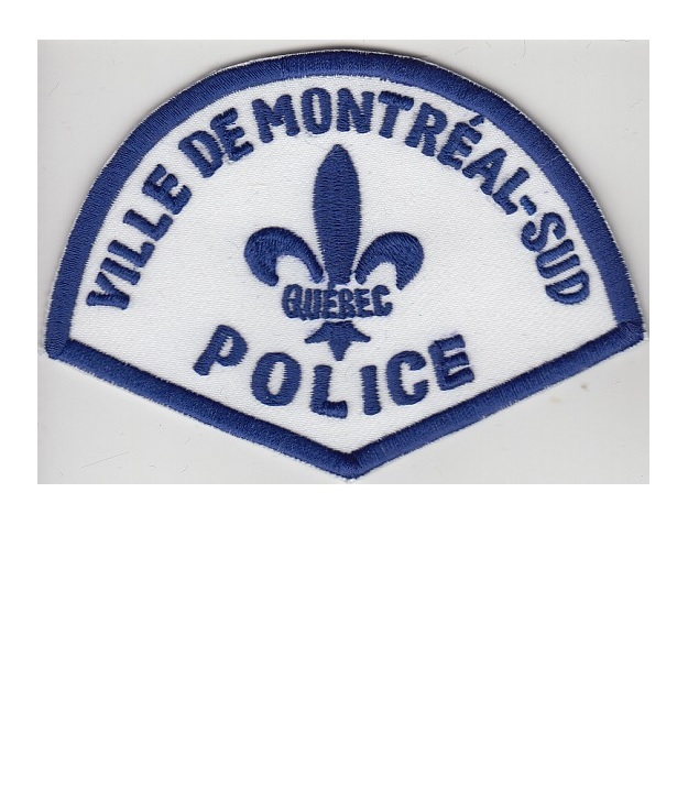 Olice quebec police department ville monreal sud service de police early 60 s 3.5 x 4.25 in 9.99