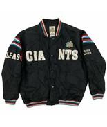 Vintage Belfast Giants Hockey Team Satin Bomber Jacket Size Men's XL Bla... - $109.99