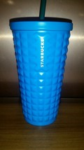New 2016 Starbucks Stainless Steel Cold Cup Blue Studded 16 Oz. - $26.39
