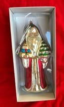 Vintage Christmas Santa Claus St Nick Mercury Glass Ornament Kurt Adler NIB - $14.95