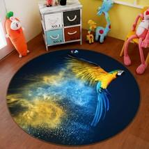 3D Flying Parrot 060 Non Slip Rug Mat Room Mat Round Quality Elegant Carpet AU - $65.41+